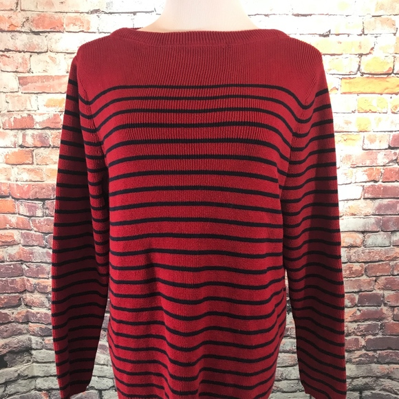 Lauren Ralph Lauren Sweaters - Ralph Lauren Red Navy Striped Sweater 1X